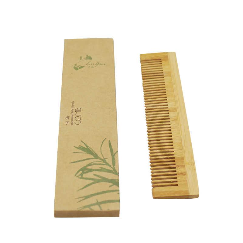 עיסוי עץ מסרק במבוק שיער Vent מברשת מברשות שיער טיפול ויופי ספא לעיסוי במבוק שיער מסרק