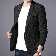 Мужской костюм куртка Повседневное блейзеры Для мужчин формальный