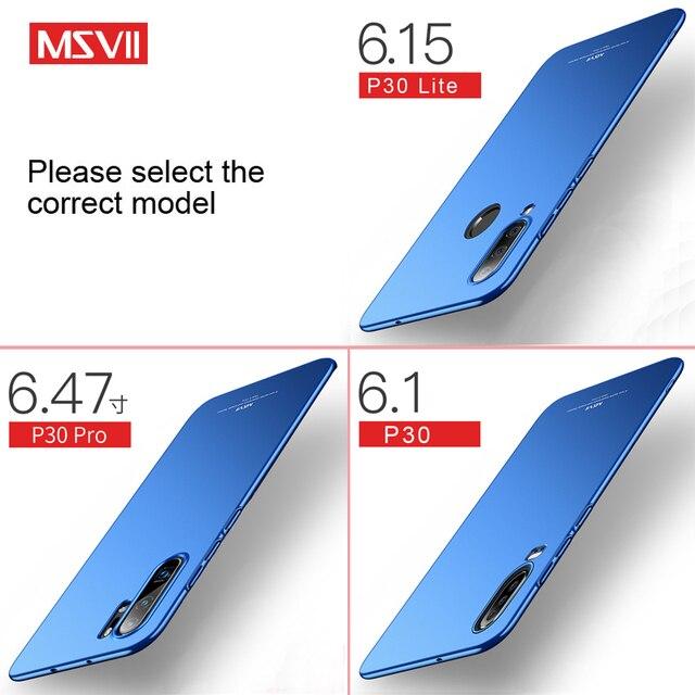 P30 Pro Case MSVII Slim Matte Coque For Huawei P30 Lite Pro Case P 30 Plus Hard PC Cover For Huawei P20 Lite P40 Pro Lite E Case 2