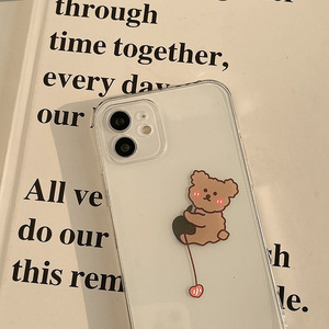 Image 3 - Transparent Cartoon Bear Cover Case For iPhone 12 12min 12Pro 12ProMax 11 11Pro 11ProMax SE2020 X XS XSMAX XR 7 8 7Plus 8Plus