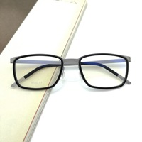 Evove Business Eyeglasses Men Titanium Glasses Frame Man Spectacles for Prescription No Screw Design Brand Design Optic Eyewear