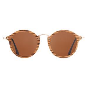 Image 4 - BARCUR زيبرا نظارة شمسية خشبية اليدوية نظارات شمسية مستديرة الرجال الاستقطاب النظارات مع صندوق الحرة