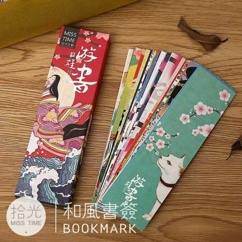 30pcs/1 Box Japanese Style Bookmark Healing Book Mark Magazine Note Label Bookmark School Office Supplies Children Students