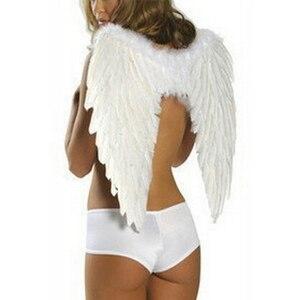 Image 4 - Angel wings ปีกขนนก Photo Prop คอสเพลย์ปีกสีดำปีกเวทีแสดงฮาโลวีนเครื่องแต่งกายงานแต่งงานวันเกิดของขวัญ Decors