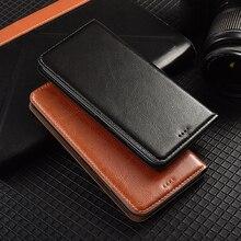 Ímã natural couro genuíno pele flip carteira livro telefone capa para xiaomi redmi nota 9 s 9 pro max note9 s note9s 64 gb