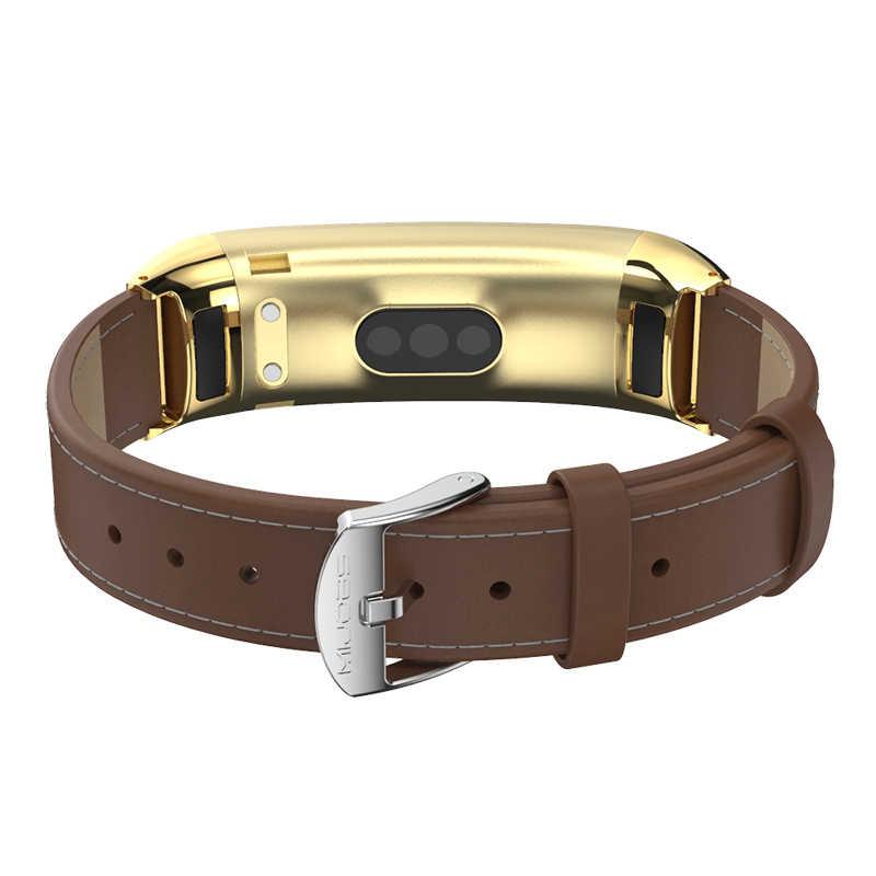 רצועת עבור Huawei להקת 3/3 Pro/4 פרו מתכת יד צמיד עבור Huawei חכם להקת נירוסטה Wristbands ממילאנו עור רצועה