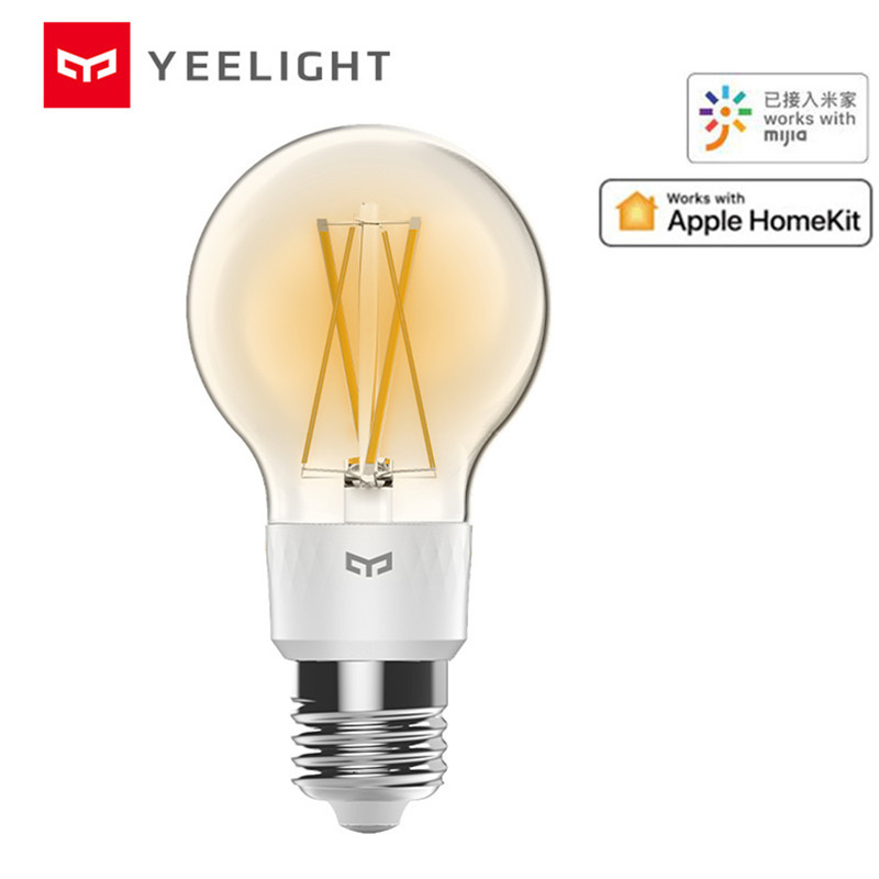 Xiaomi Mijia Yeelight Smart LED Filament Bulb YLDP12YL 700 Lumens 6W Lemon Smart Bulb Work With Apple Homekit