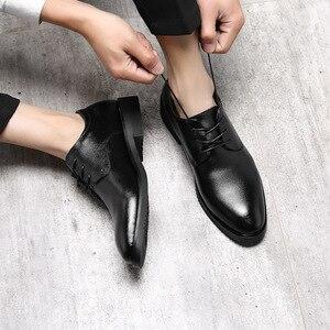 Image 4 - IMAXANNA גברים נעלי יוקרה מותג אמיתי עור עסקי שמלת חתונת נעלי גבר קלאסי עור נעלי נעליים בתוספת גודל 38  47