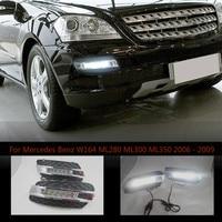 LED Daytime Running Light For Mercedes Benz W164 ML280 ML300 ML350 2006 2009,Waterproof ABS 12V DRL Fog Lamp Decoration