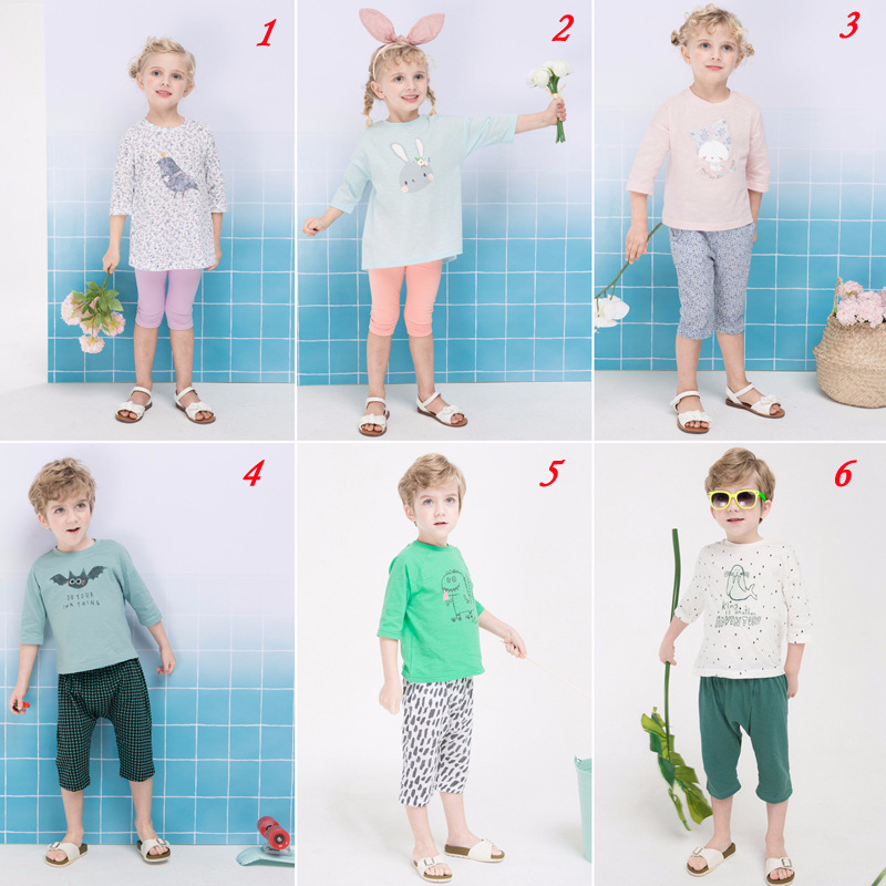 Imported From South Korea CHILDREN'S Pajamas Cogibee Spring And Summer New Style Children Underwear Suit Men And Women Tracksuit