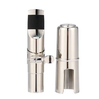 цена на Sax Mouthpiece 7 Tone Silver Plated Alto Saxophone Mouthpiece + Cap + Ligature Musical Instruments