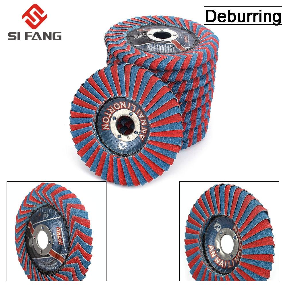 2Pcs  4inch X 5/8inch Abrasive Flap Disc  Radial Shape, Round Hole  Phenolic Resin Backing Zirconia Alumina Grit
