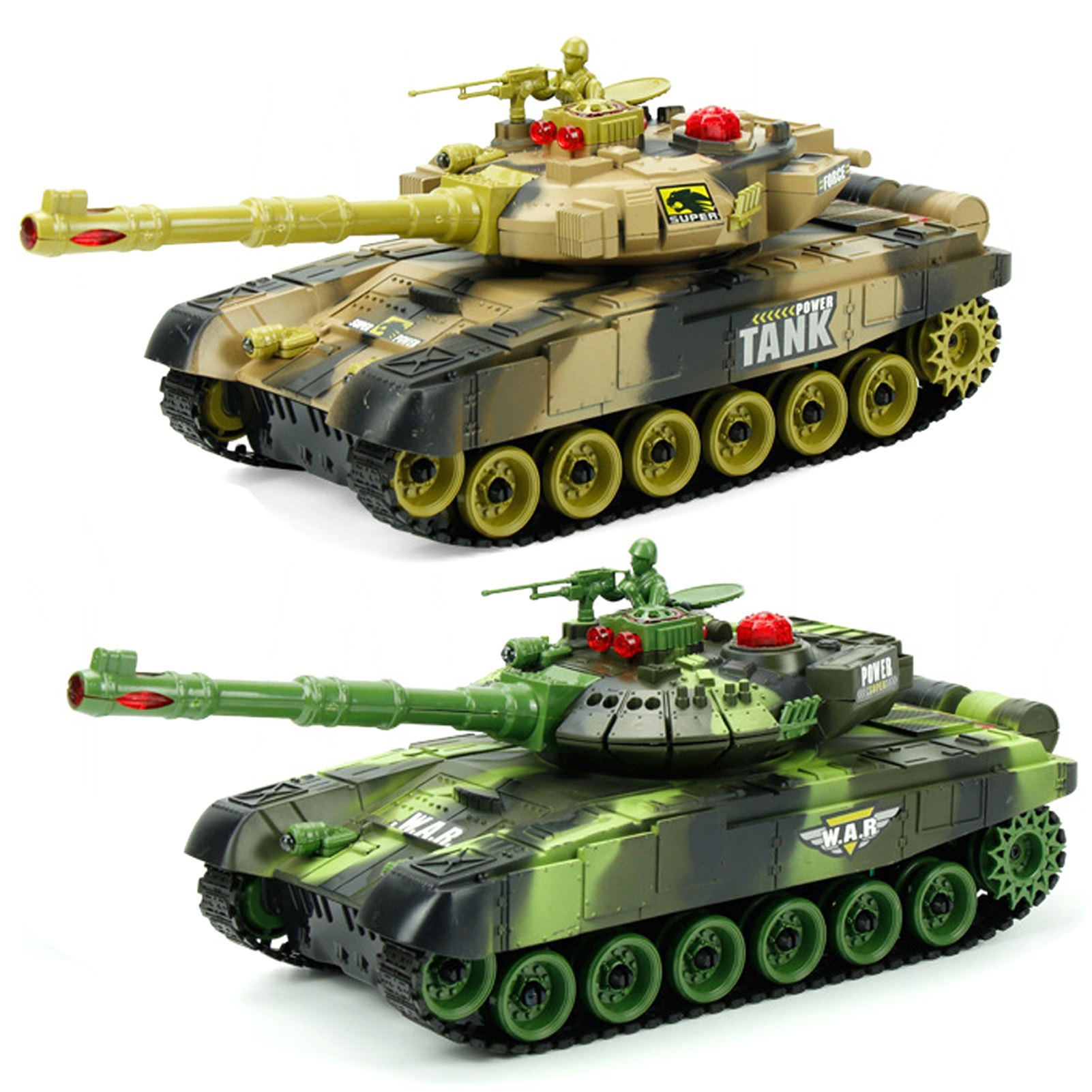 RC M1A2 Tank 50M Distance Can Rotate Launch Building Block Brick Toys Technic Car