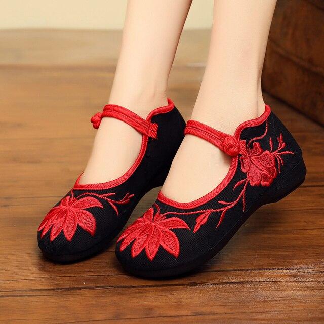 Cresfimix femmes mode léger Floral broderie chaussures plates dame décontracté rétro Ballet chaussures femme vert danse appartements C5510