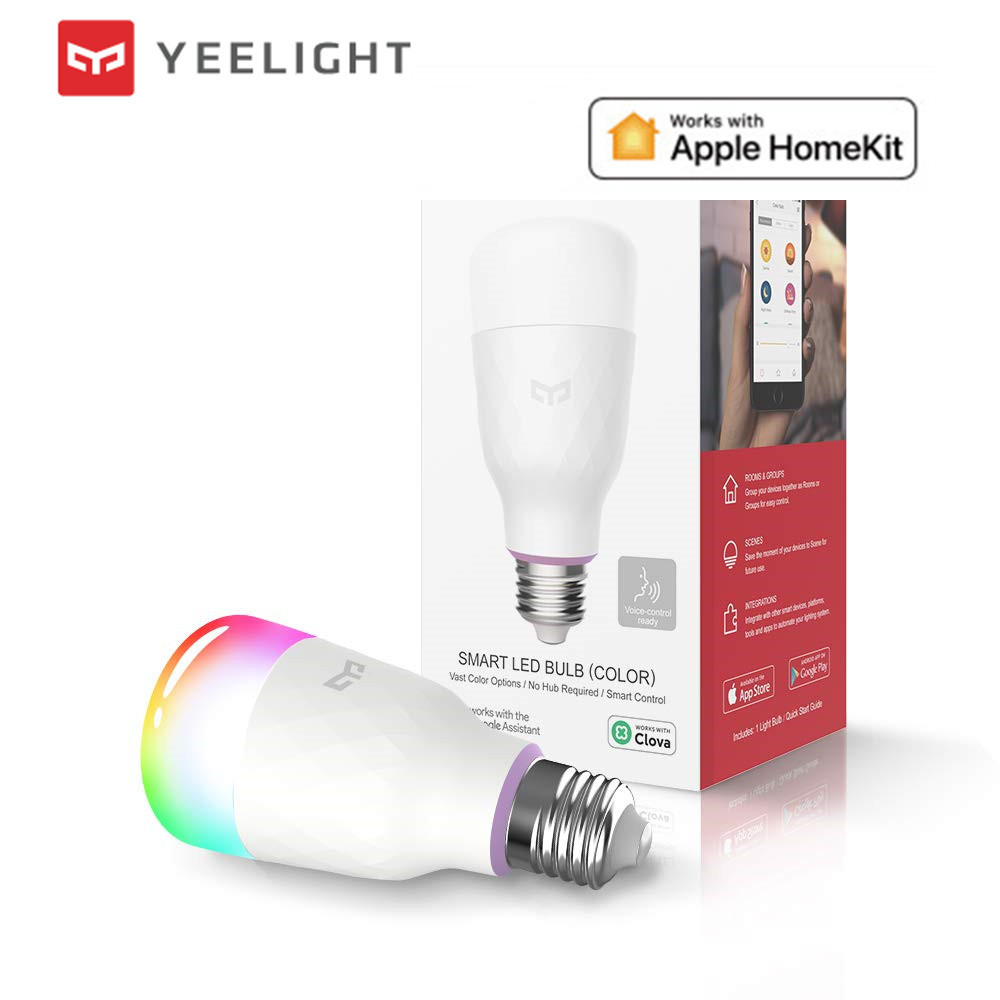 2020 Update version   yeelight smart LED bulb lemon 1S colorful 800 lumens 8 5W Lemon Smart bulb Work with Apple homekit