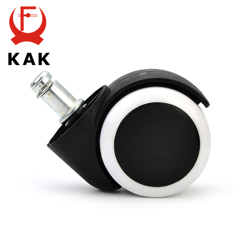 5PCS KAK 2 inch Universal Office Chair Caster Replacement 50KG Household Chair Wheel Rubber Safe Roller Furniture Hardware