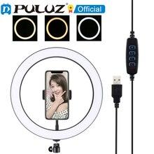 PULUZ 12 pollici USB 3 Modalità di Dimmable LED Ad Anello Vlogging Selfie Fotografia Video Luci con il Freddo Shoe Treppiede Testa A Sfera & del telefono Cla