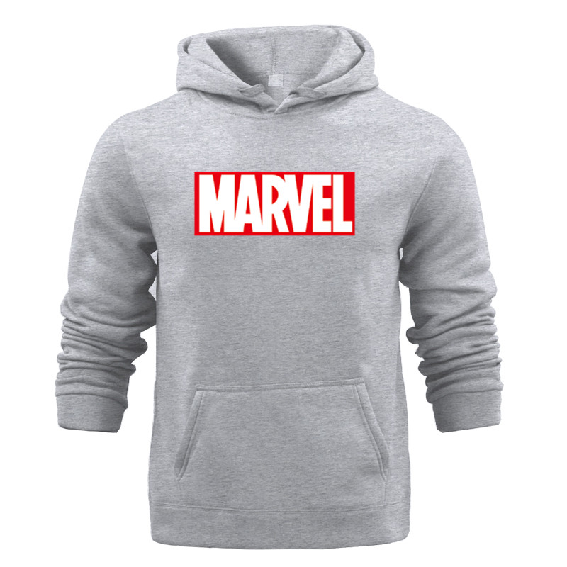 All-match Marvel HOODIE Hip Hop Street Wear Sweatshirts Skateboard Men/Woman Hooded Fleece Pocket Pullover Hoodies Male Coat 3XL