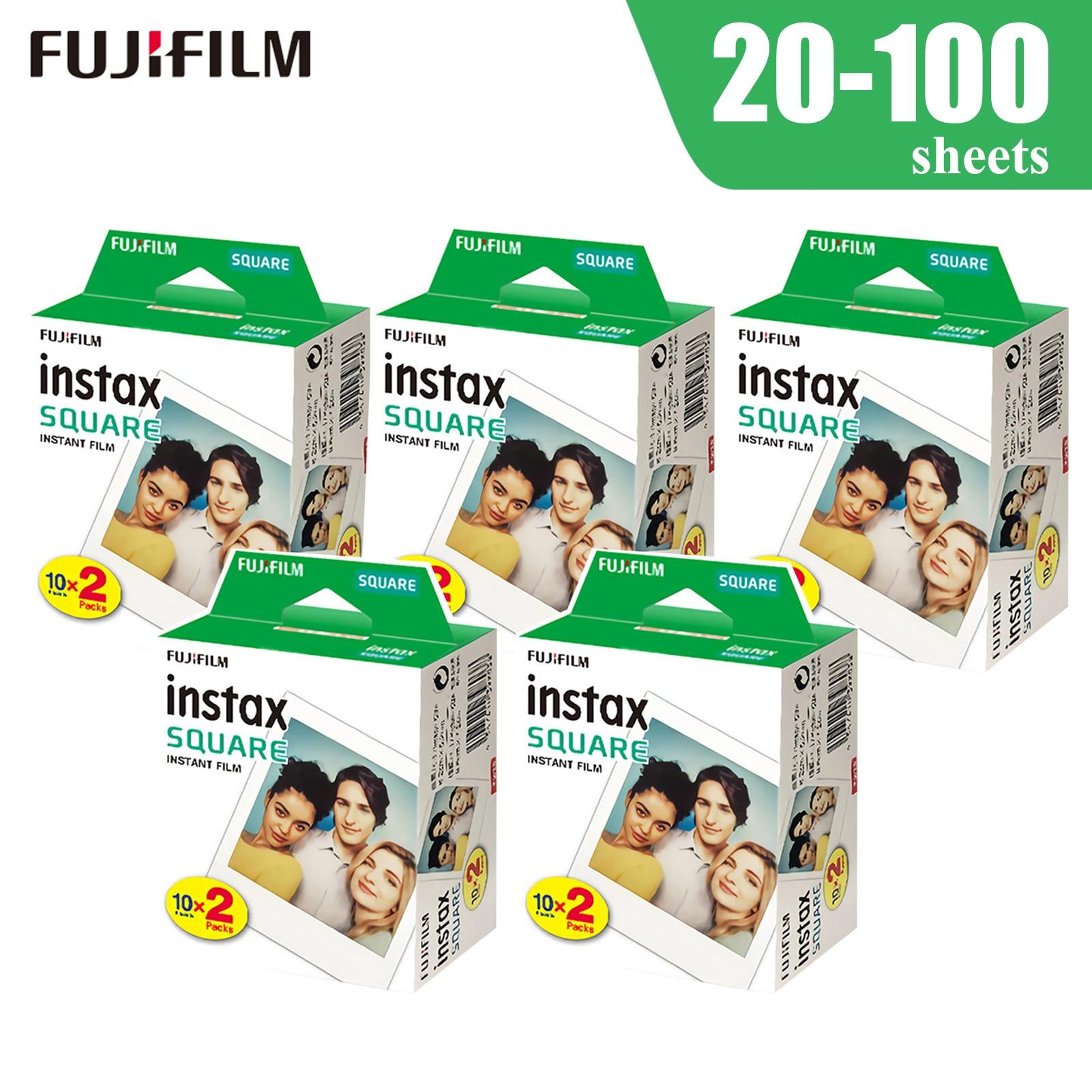 Белая пленка для Fuji Instax квадратный Плёнки с белым краем и Фотобумага для цифровой фотокамеры Fuji Instax квадратный SQ6/SQ10 мгновенный Плёнки Камер...