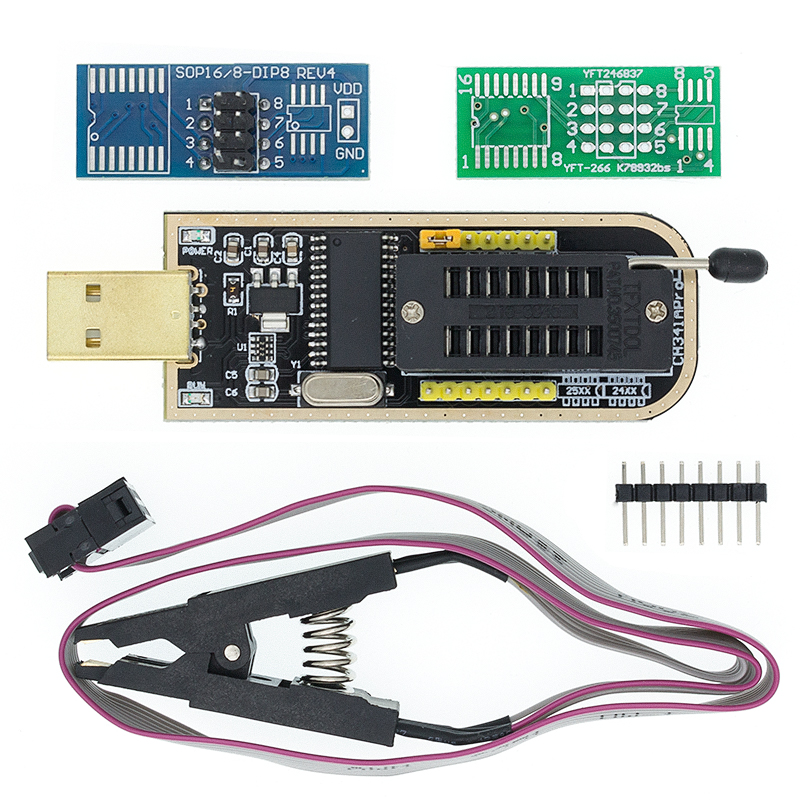 I21 CH341A 24 25 серия EEPROM Flash BIOS USB программатор модуль + SOIC8 SOP8 тестовый зажим для EEPROM 93CXX / 25CXX / 24CXX DIY KIT
