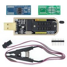 EEPROM Flash BIOS PROGRAMADOR USB, con Software y controlador, 10 Uds., CH341A 24 25 Series