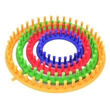 Okrągłe Knitter krosna DIY wełny maszyny dziewiarskie kreatywny koło kapelusz szalik sweter krosna drutach na drutach