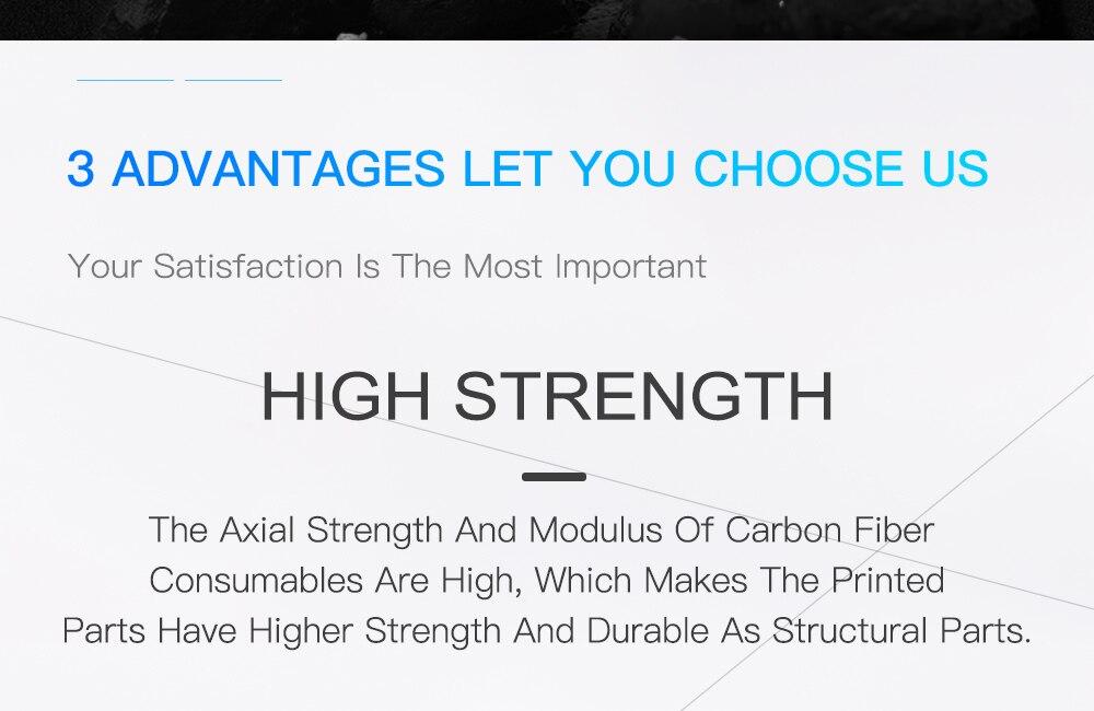 Rambery 3d fibra de carbono pla filamento