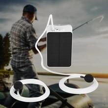 Portable Oxygenator Fishing Outdoor 5V  Solar Power/Dc Charging Air Pump Fish Tank Oxygen Aerator