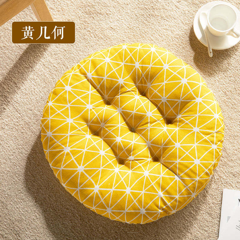 New Seat Cushion Round Chair Cushion Breathable Seat Cushion Cat Pillow Fart Mat Outdoor Camping Seat Pad Thicken Chair Pad