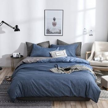 Simple Bedding Set Blue Grey 34