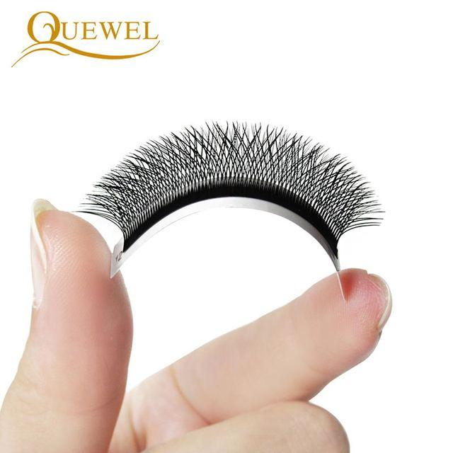 Quewel W Shape Individual Volume Eyelashes W Style Double Tip Eyelash Extensions Fans C/D Curl New False Eye Lash Makeup Tool 2
