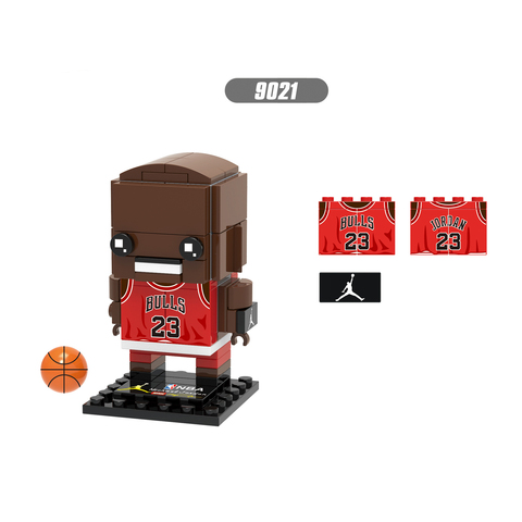 nova estrela de basquete mini bloco brickheadz