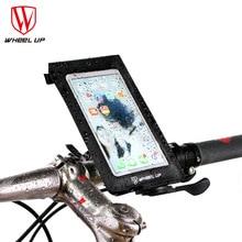 цена на Bicycle smart phone bag bike Handlebar bag for cellphone with touch screen bicycle bag Waterproof phone bag 6.0 inch phone bag