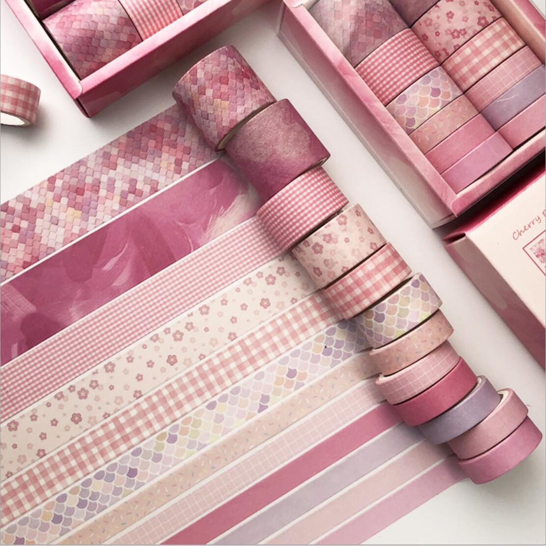 12 Pcs/set The Pink Motion Party Washi Tape Set Scrapbooking DIY Bullet Journal Stationery Masking Tape School Office
