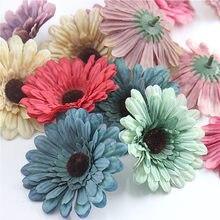 2 uds. 7,5 cm cabeza de crisantemo Vintage artificial para la decoración de la Navidad de la boda DIY flor de la pared caja de regalo artesanal flor falsa ZM