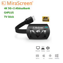 MiraScreen G4 PLUS 4K TV Stick Anycast HDMI Dongle Receiver 5G WiFi Display Miracast Airplay DLNA newest model in stock measy a2w 4k tv dongle dual band 2 4ghz 5ghz wifi miracast airplay dlna tv stick support 4k ezcast wifi display dongle