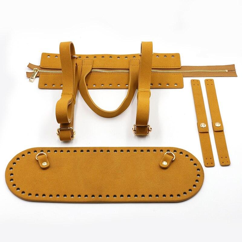 Kzfashion Diy Handmade Bag Set Accessories Parts Bags Bottom Lock Zipper Shoulder Bag Strap Hangbag Backpack For Women #C
