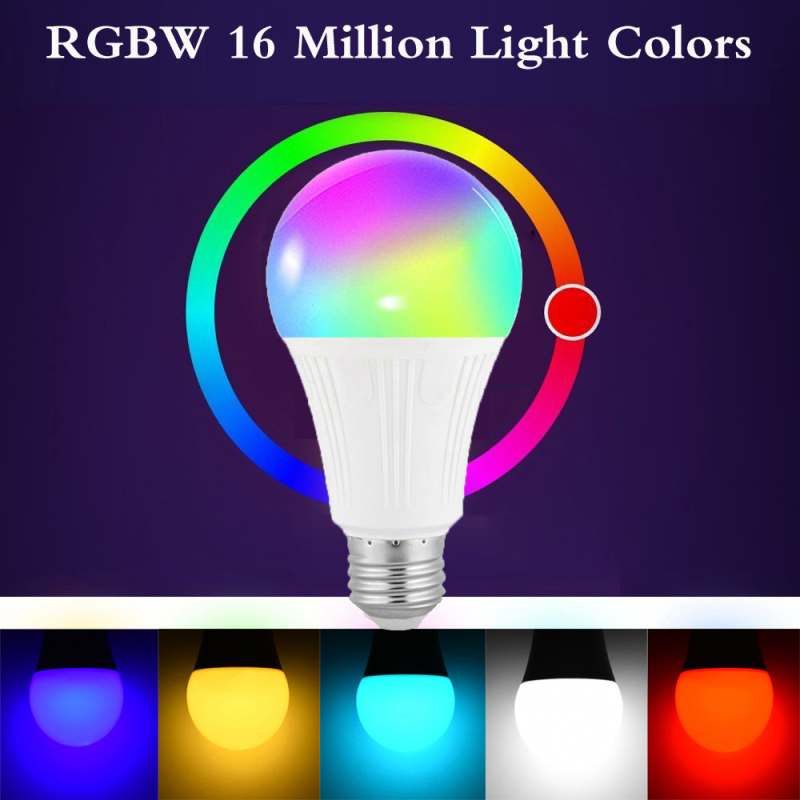 10W Magic RGBW Dimming Bulbs,Smart WiFi Light Bulb App Control Compatible With Alexa Google Home Tmall Automatic Light Lamp Bulb