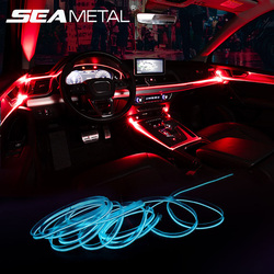 Car Ambient Light Colorful EL Neon LED Light Strips Multiple Modes Automotive Interior RGB LED Decorative Lights Auto Atmosphere
