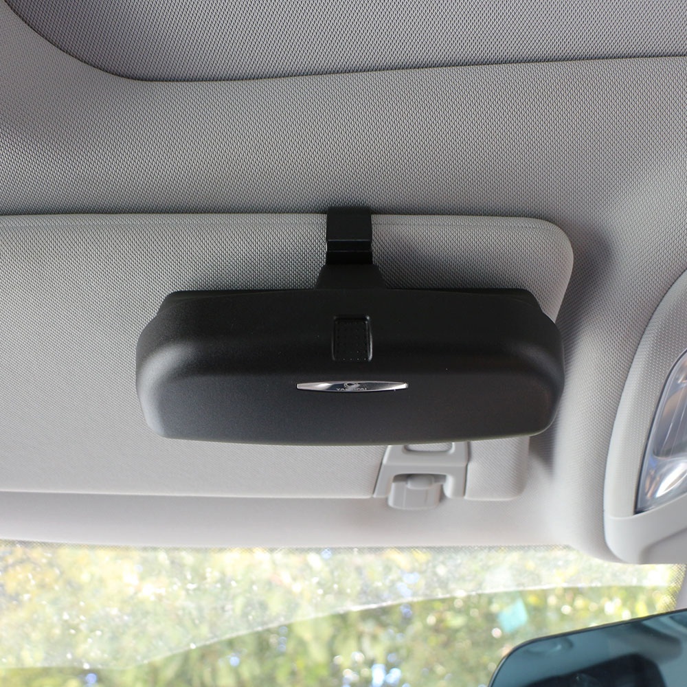Car Glasses Box Car Sunshade Bill Clip Multifunctional Car Glasses Storage Box Organizer Box Sunglasses Holder Storage Pockets