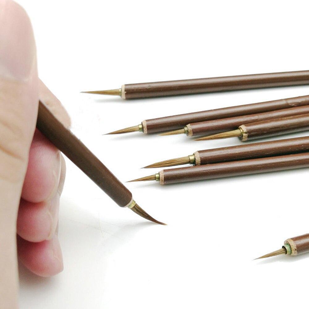 3pcs/set Metal Weasel Hair Brush Pen Hook Line Paint Brush Chinese Calligraphy Brush Art Oil Painting Brush