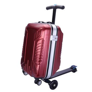 21 cali bagaż podręczny wodoodporne walizki podróżne skuter bagaż torba schowek torba na pokład projektant walizki bagażowe tanie i dobre opinie CN (pochodzenie) Bagaż podręczny ons Spinner Unisex