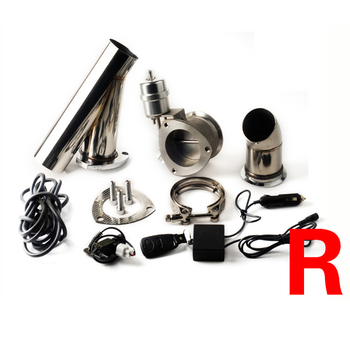 Universal 2.5 inch 3 inch exhaust cutout remote control with vacuum actuator y pipe bypass exhaust cutout pipe VAR фото