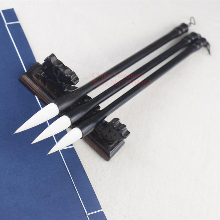 3pcs/lot Chinese Calligraphy Brush Pen For Writing Zhuan Shu Or Li Shu Brush Hair Pen Writing Brush Mo Bi