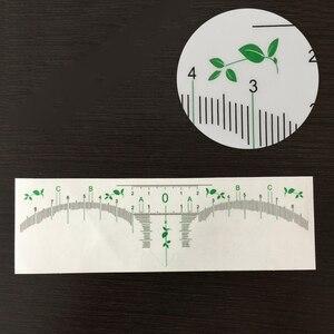 Image 4 - 100pcs קעקוע אביזרי חד פעמי 3D גבות שליט מדבקת עיצוב מדידת סטנסיל קבוע איפור Microblading ספקי