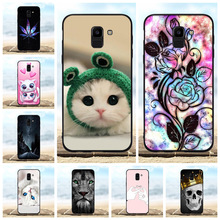 For Samsung Galaxy J6 Case Soft TPU Silicone For Samsung Galaxy J6 J600F Cover Cat Patterned For Samsung Galaxy On6 J600G Capa все цены