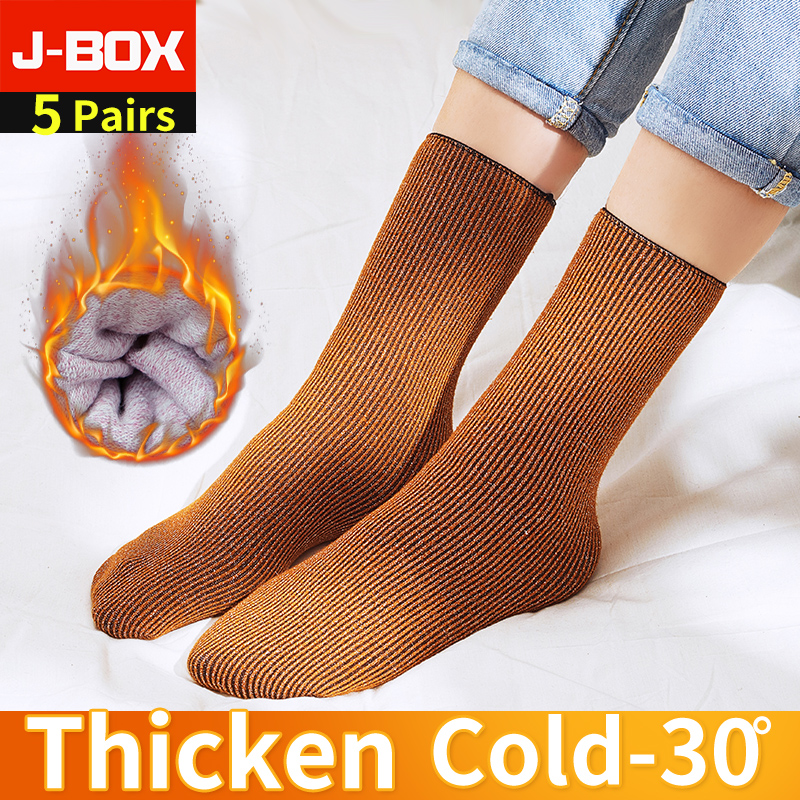 ALI shop ...  ... 4000059173561 ... 2 ... 1 5 Pairs Winter Warm Women Short Socks Thick Thermal Wool Snow Socks Unisex harajuku Seamless Velvet Boots Floor Sleeping Sox ...