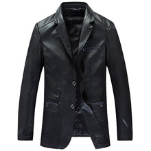 2020 Brand clothing Men Leather Coat Arrival Sprin