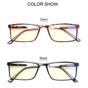 Henotin computador vintage óculos de leitura quadros retangulares moda multi anti raios azuis para leitura