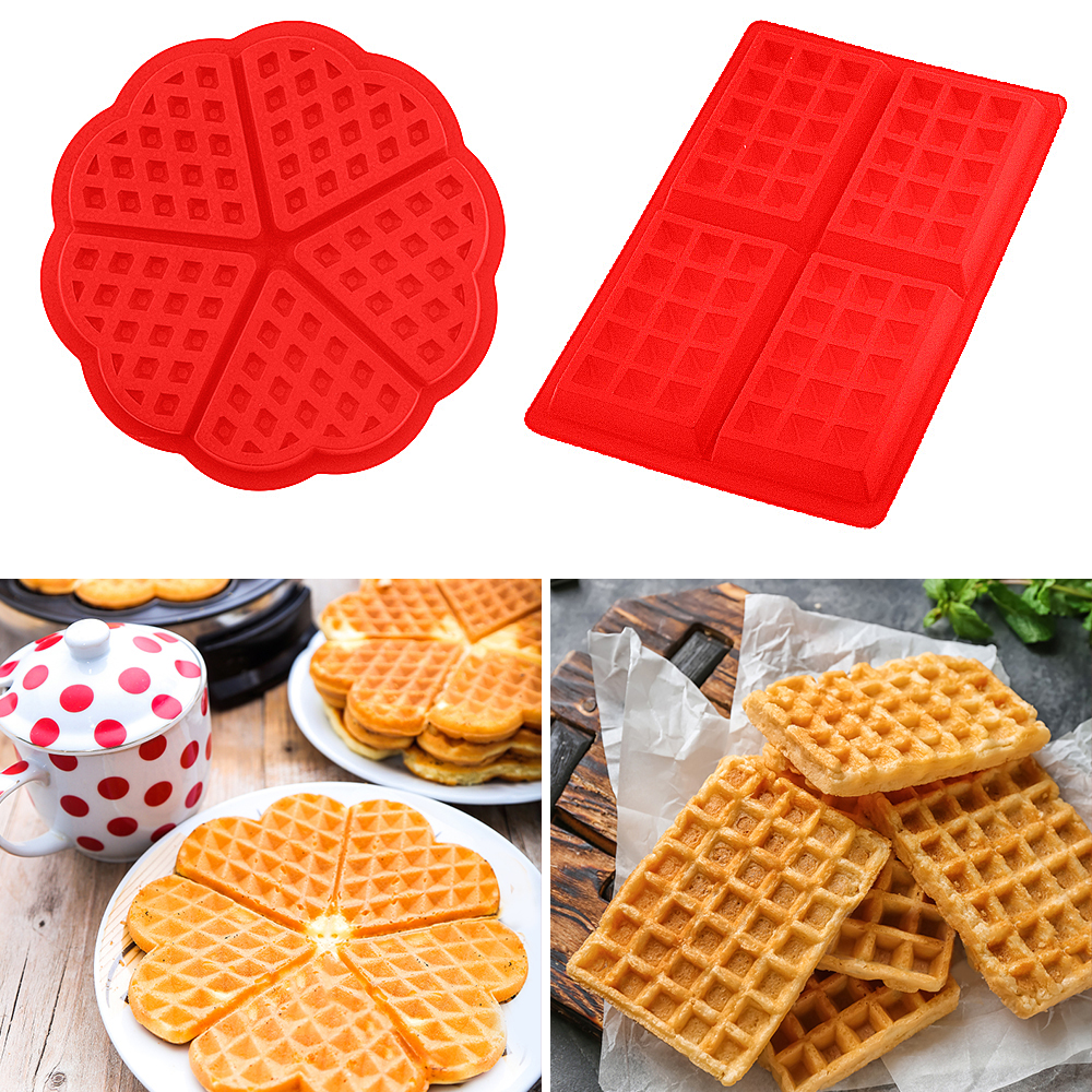 DIY Waffle Waffle Mould Model Unstick Kitchen Cake Making Accessories Hot Cooking Tool